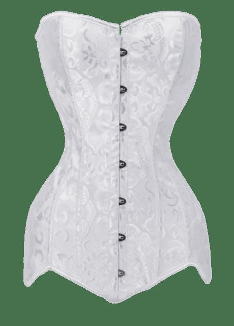 Corset White Steel Bones