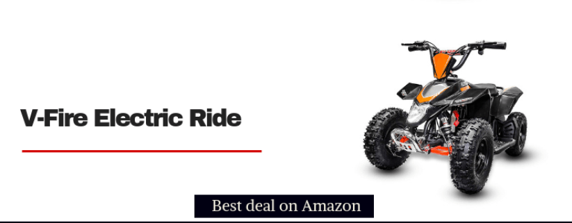 v-fire 350w electric four wheeler ATV quad