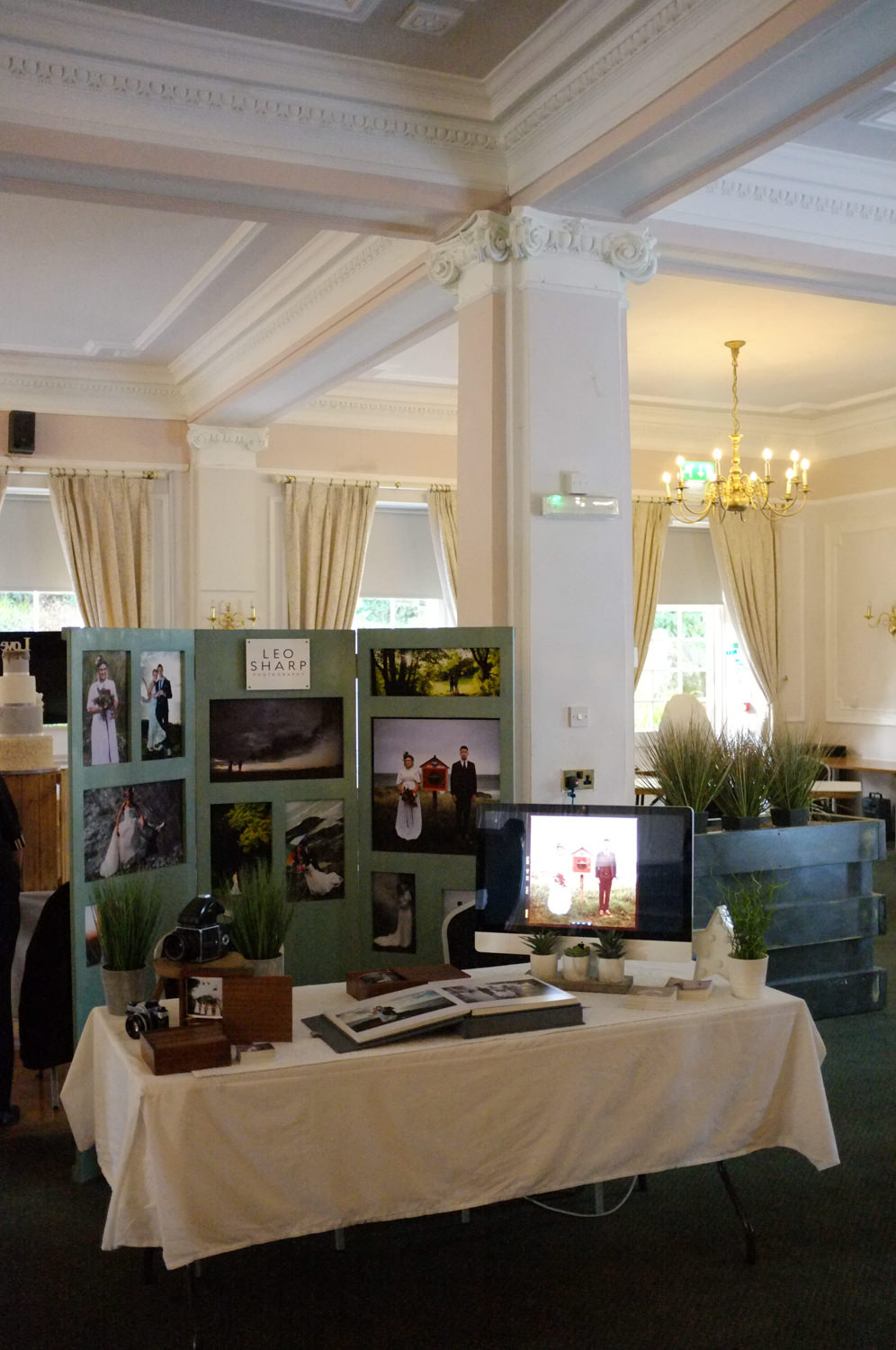 Leo Sharp Photography stand at Tregenna castle wedding fair