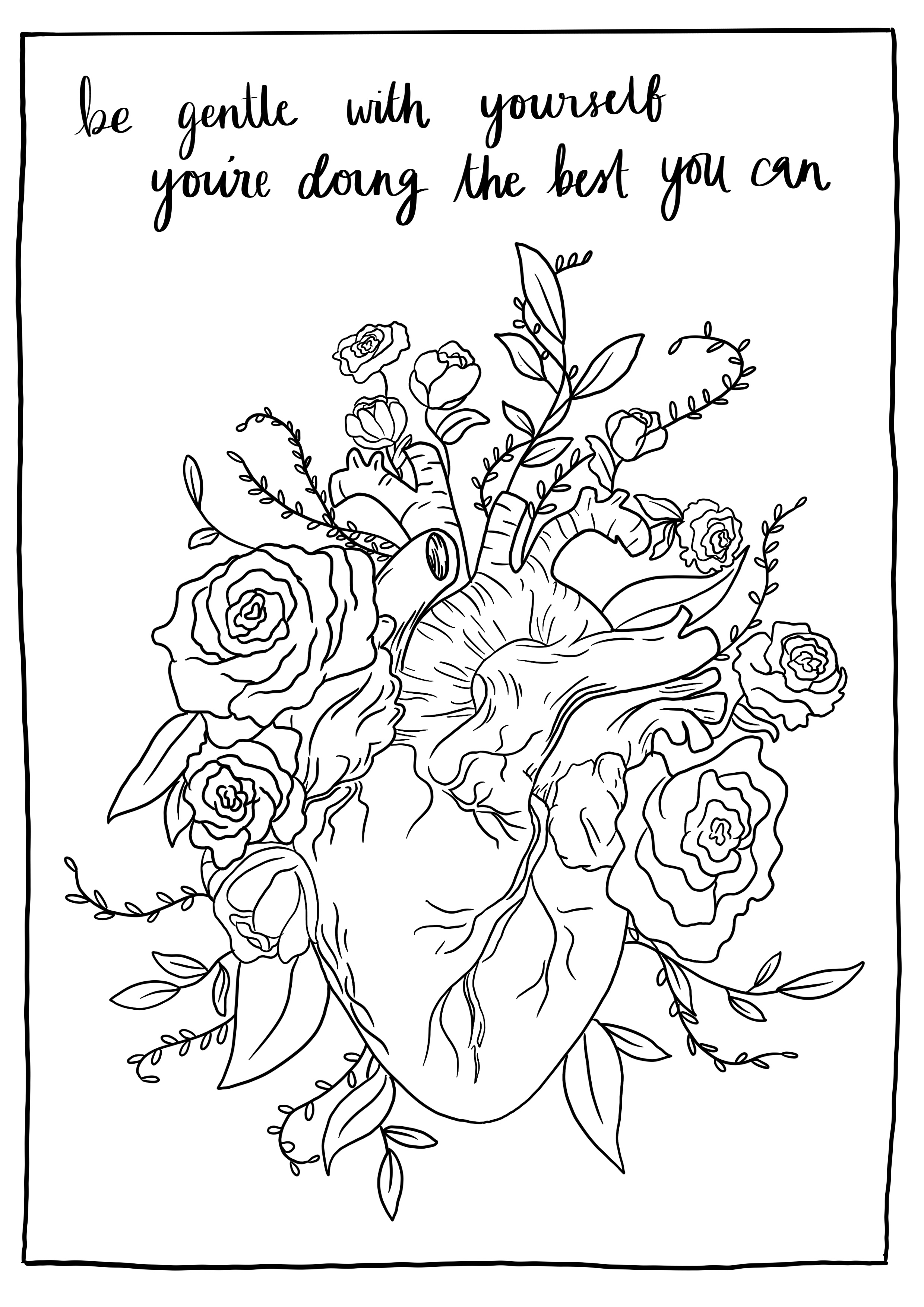 Mental Health Pages Coloring Pages