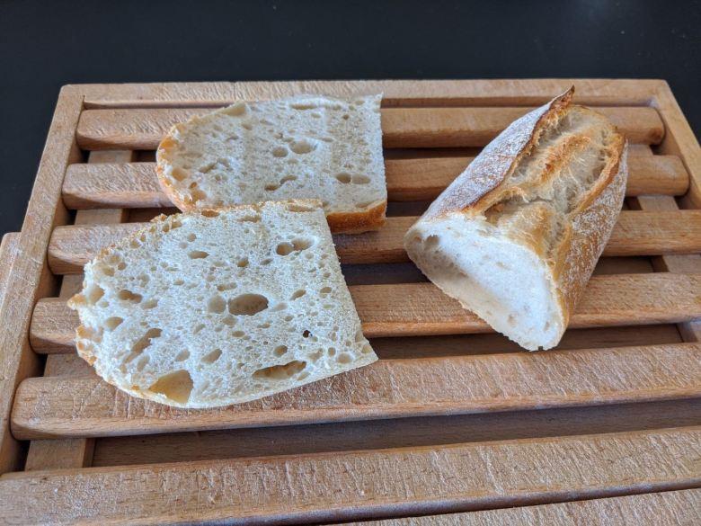 crouton de pain ouvert en 2