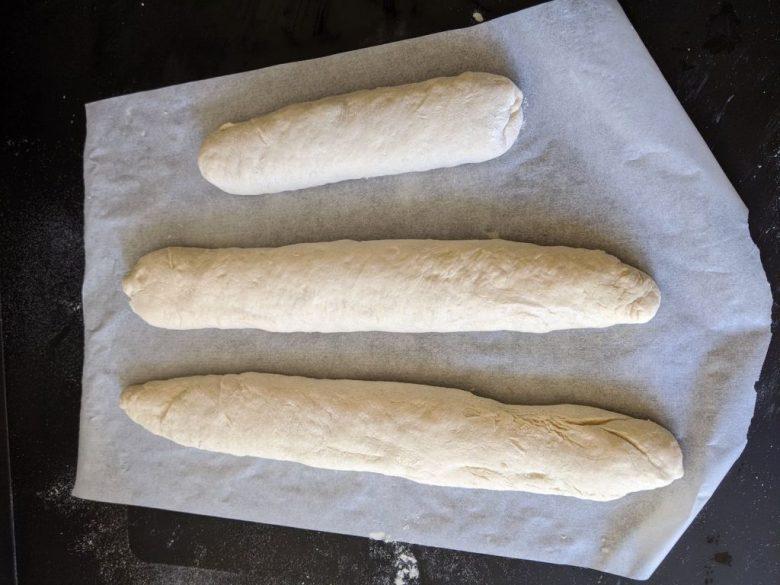 baguette mise en forme avant cuisson