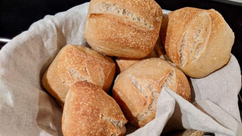 petits pains dans une corbeille