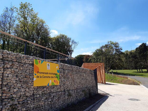 Romainville, ce jeudi.  Sur cette forêt de 65 hectares au total, 4,5 hectares ont été réaménagés en lieu de promenade et de loisirs.