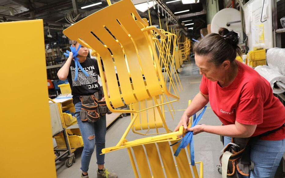 acier des chaises fermob