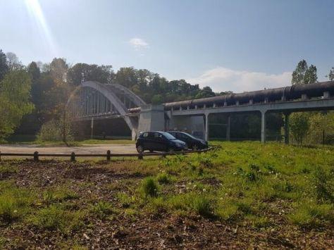 Passerelle de l'aqueduc de la Voulzie, qui pourrait être remise en service grâce au financement partiel d'Eau de Paris.