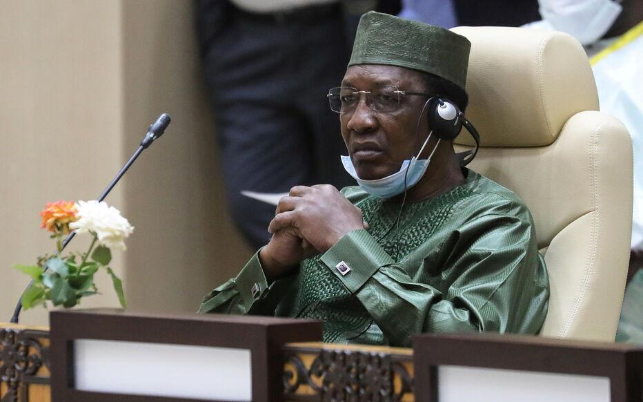 Idriss Déby le 30 juin 2020, lors d'un sommet en Mauritanie. Ludovic Marin/Pool via REUTERS