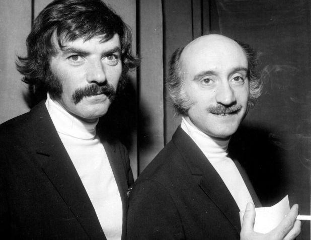 Teddy Vrignault (à dr.), du duo comique « Les Frères ennemis », s'est volatilisé en 1984. AGIP/Rue des Archives