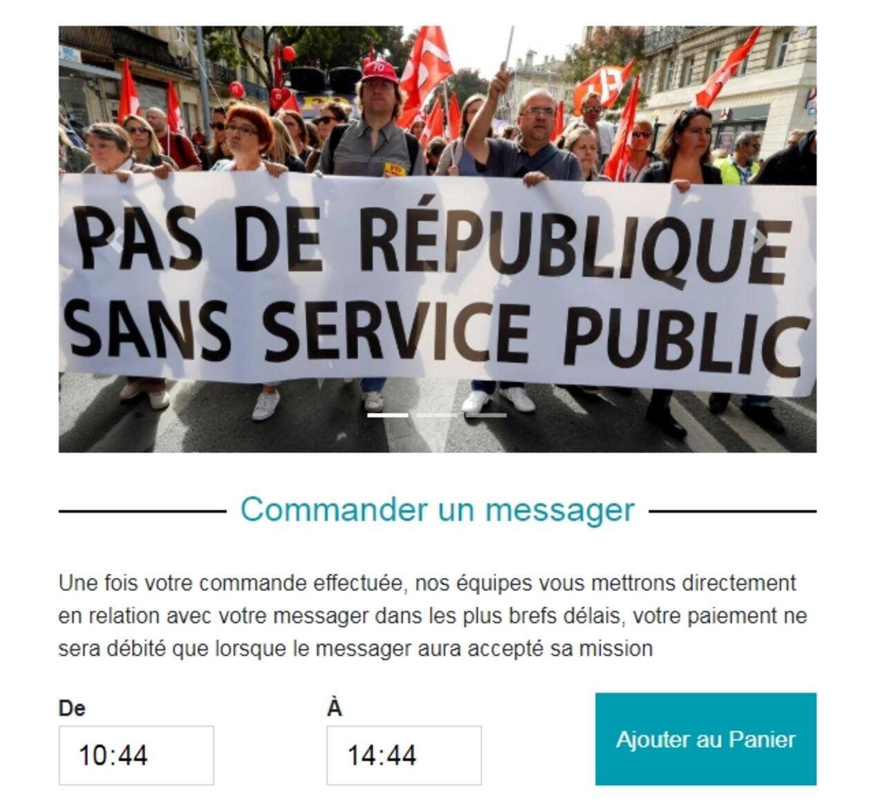 Voici comment louer les services d'une personne pour la manifestation des fonctionnaires le 9 mai./Wistand