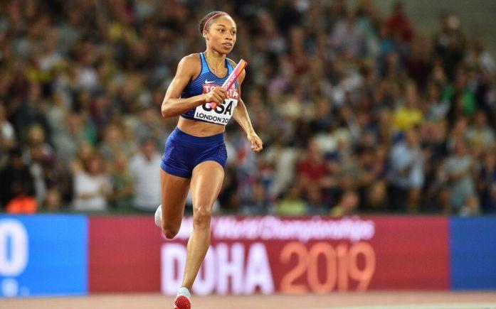 La star de l'athlétisme lors des Mondiaux 2017.