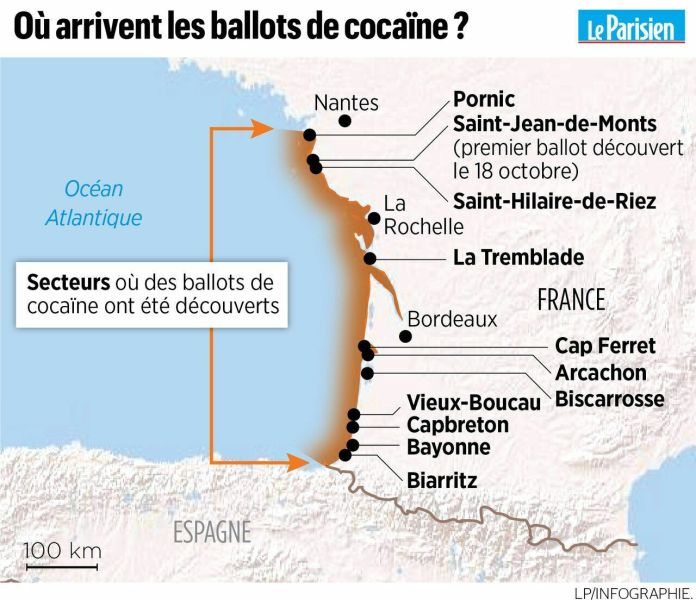 Cocaine nerds on the beaches of the Atlantic: already 763 kg found