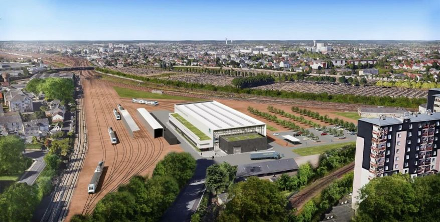 A new railway maintenance center will be put into service in 2023 near the Orléans-Les Aubrais station.  SNCF