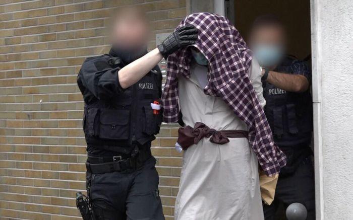 La police allemande a déclaré le 16 septembre 2021 avoir arrêté quatre suspects dans le cadre d'une attaque déjouée contre une synagogue. Alex TALASH /dpa/AFP