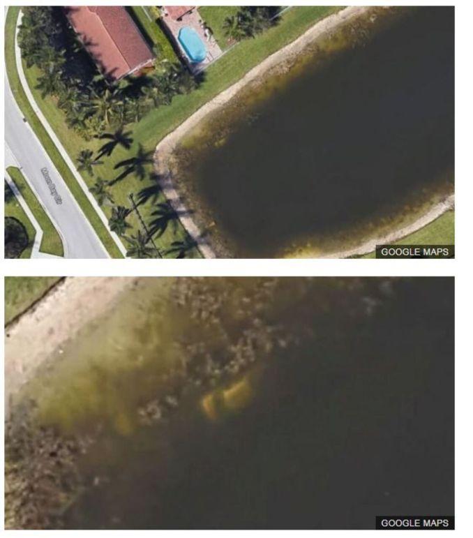 La BBC montre les images de la voiture visible sur Google Maps./BBC