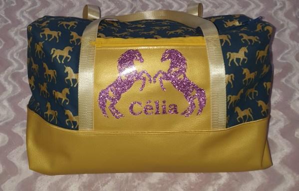 Le petit atelier de Lily bagage à main chevaux licorne personnalisé