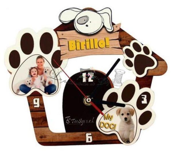 Le petit atelier de Lily pendule chien personnalisée