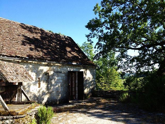 view to west dordogne countryside le petit capelier