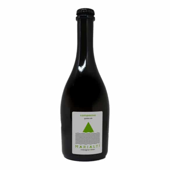 CAMPESINA Birra Artigianale Chiara Non Filtrata 75 CL Marialti Romagna Beer