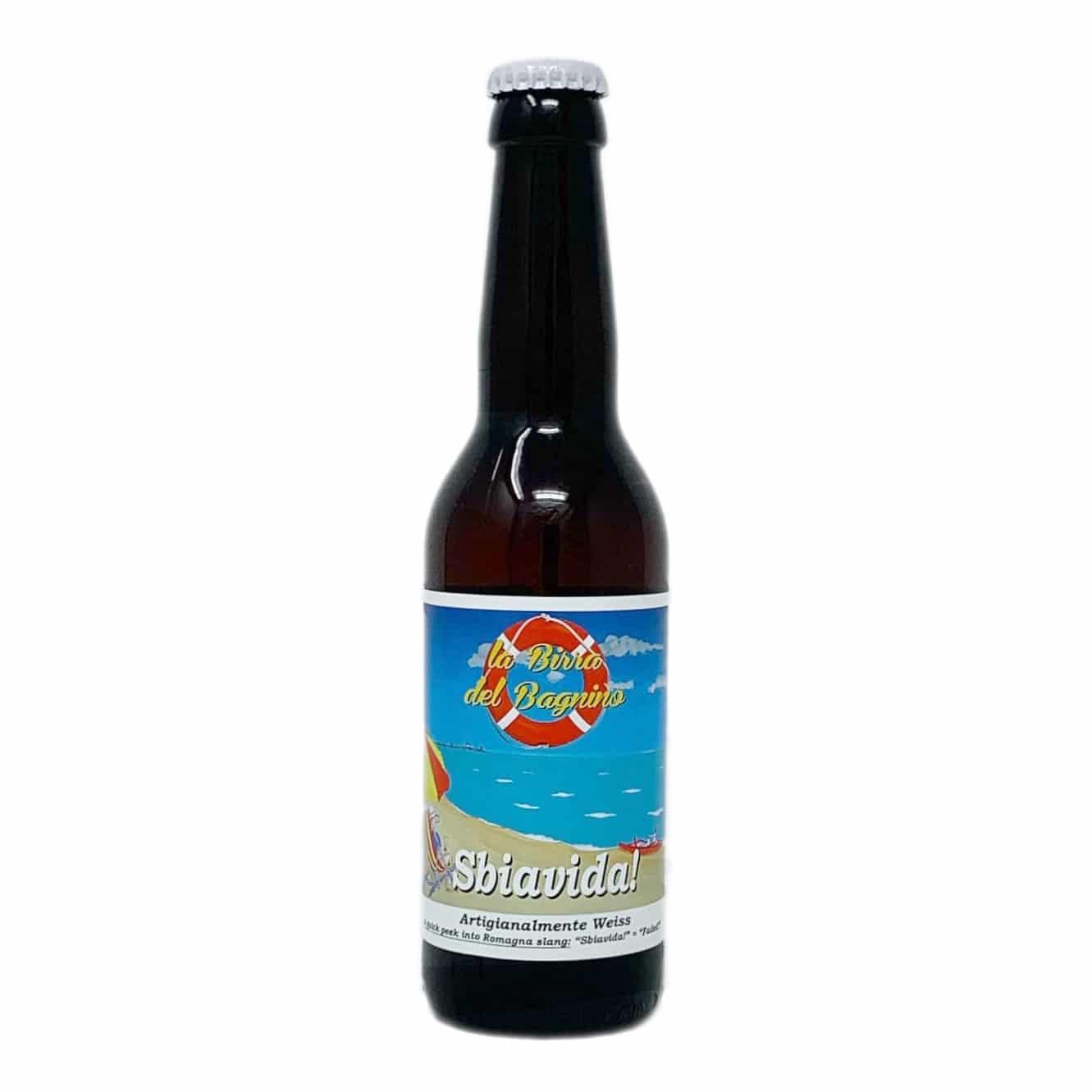 SBIAVIDA! Birra Artigianale Weiss 33 CL La Birra Del Bagnino