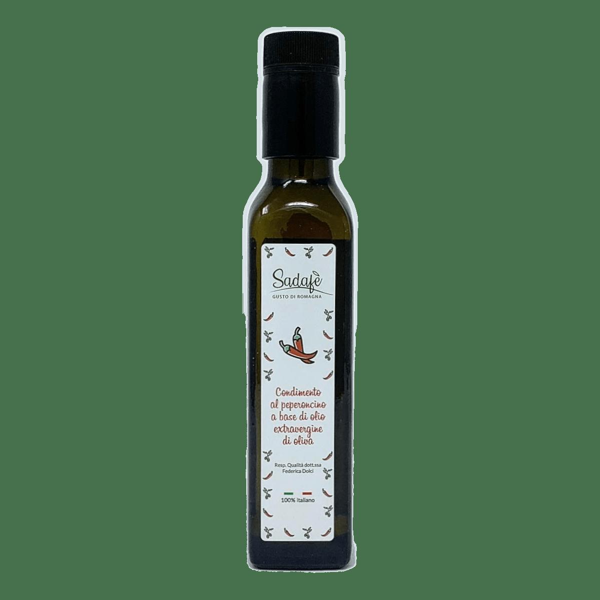 CONDIMENTO al Peperoncino Piccante in Olio Extravergine d'oliva 50 cl SADAFÈ - prodotti tipici romagnoli
