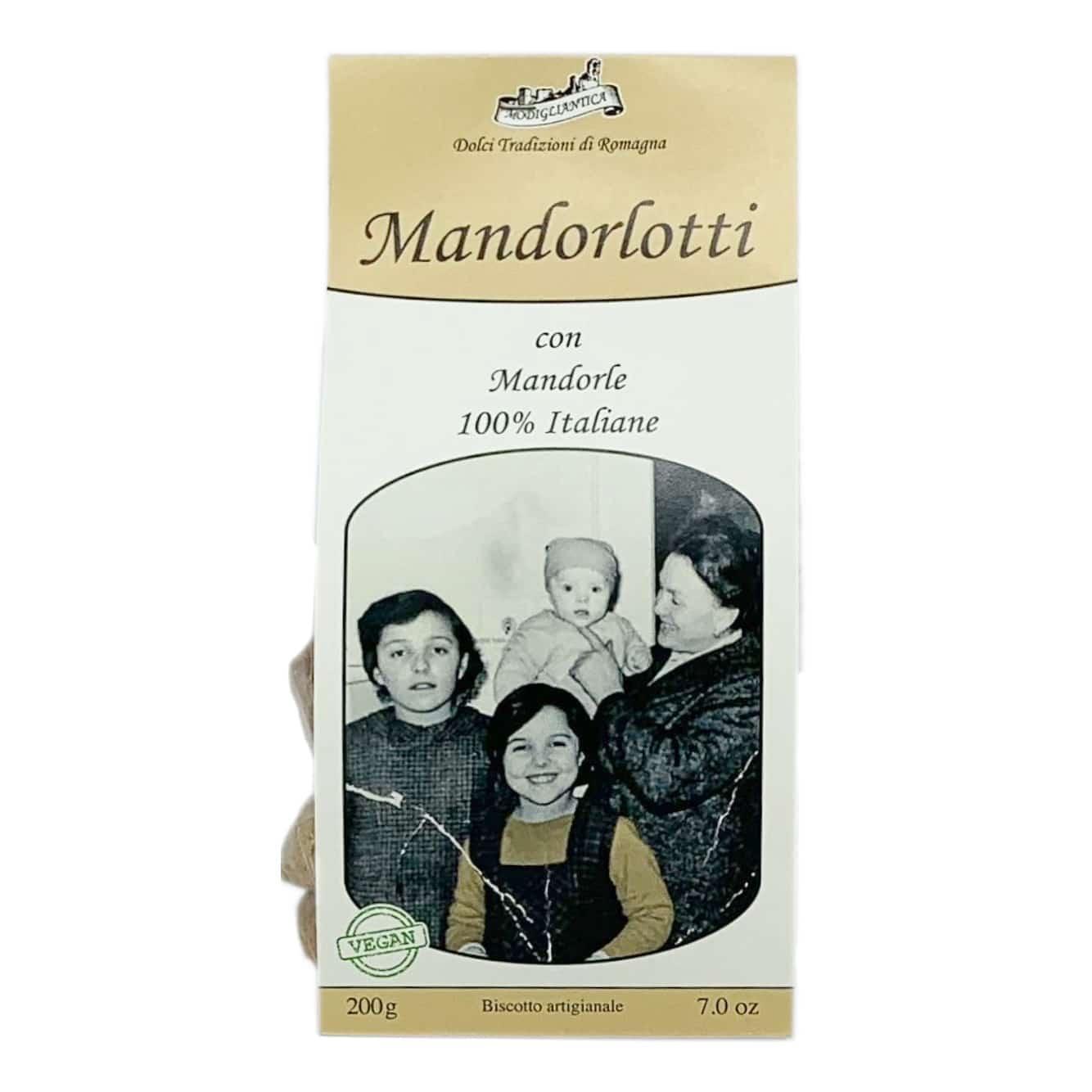 MANDORLOTTI CON MANDORLE 100% ITALIANE Biscotti VEGAN Modigliantica