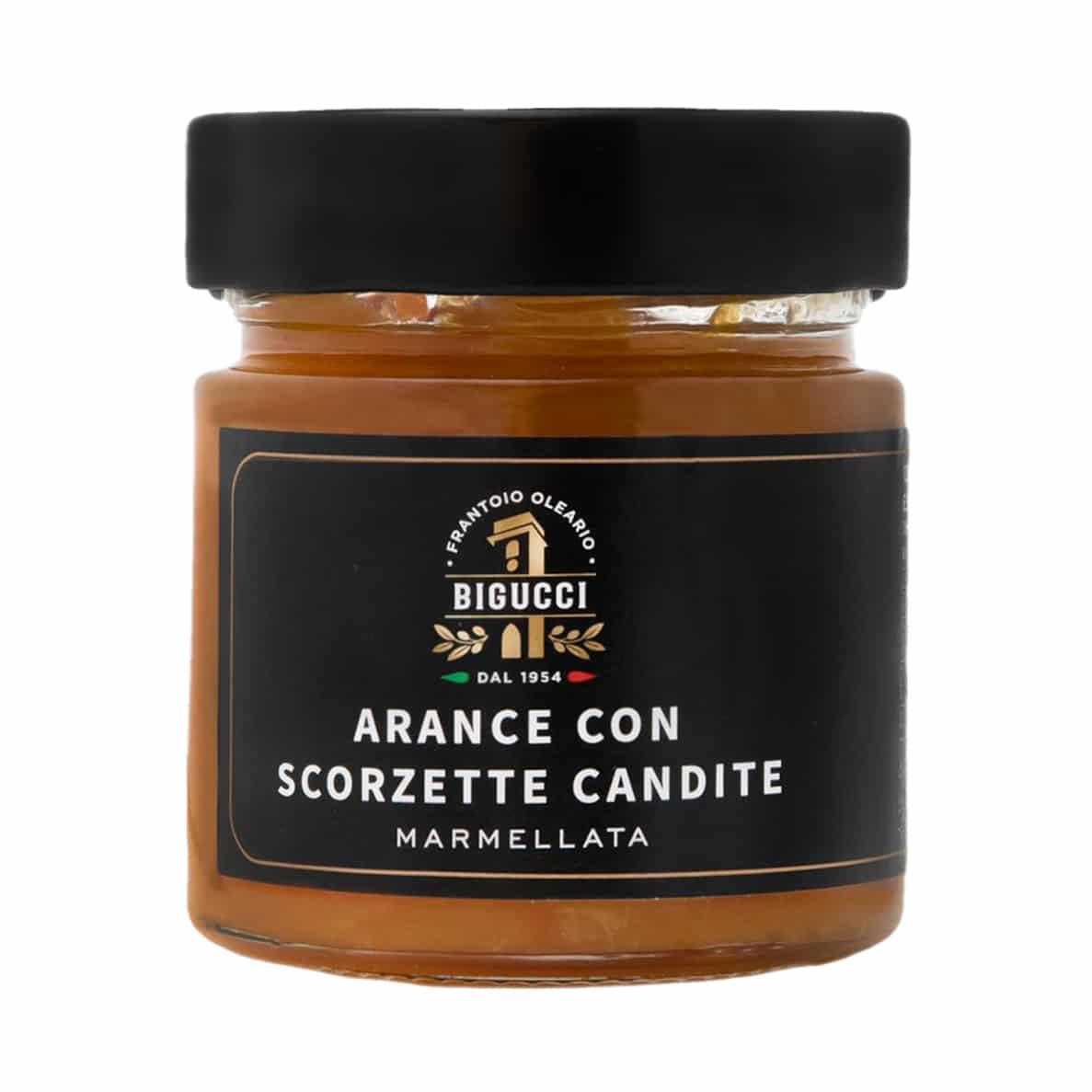ARANCE CON SCORZETTE CANDITE 250 gr BIGUCCI - prodotti tipici romagnoli