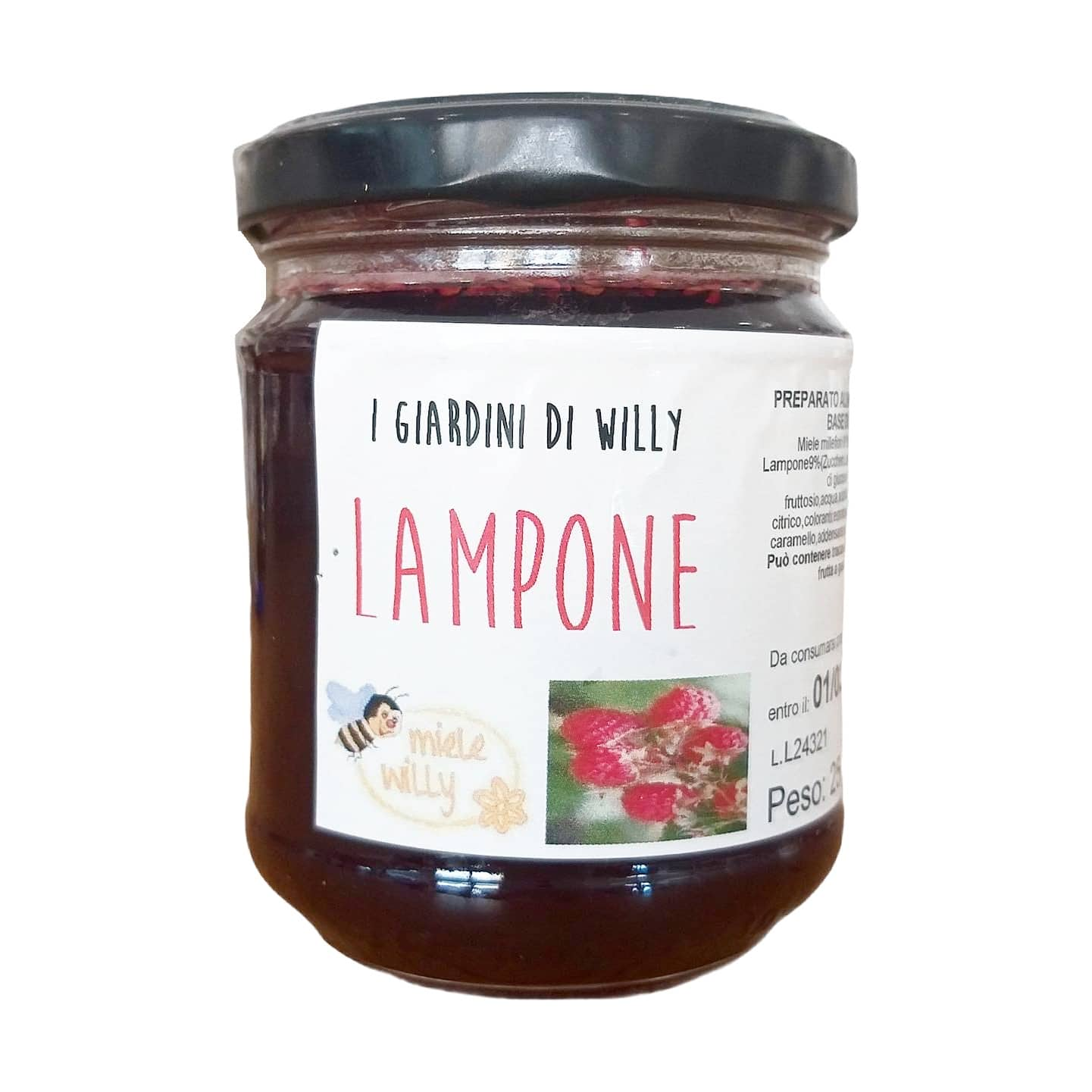 I GIARDINI DI WILLY LAMPONE 250G Miele Willy