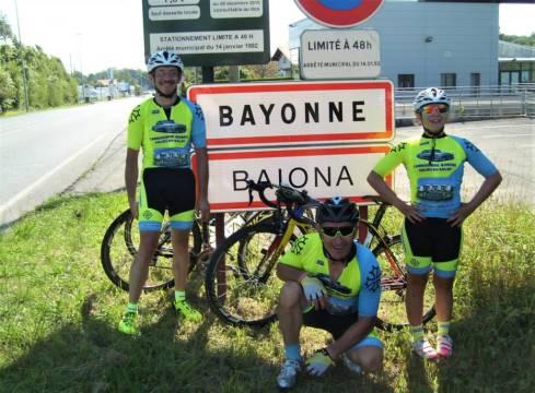 En forme à l'arrivée à Bayonne