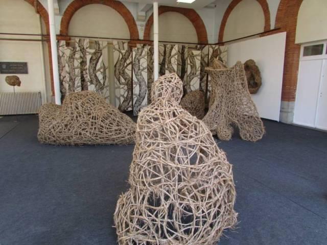 Les sculptures de lianes de Véronique Matteudi