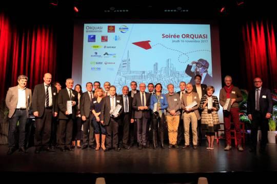 L'ensemble des lauréats et leur jury