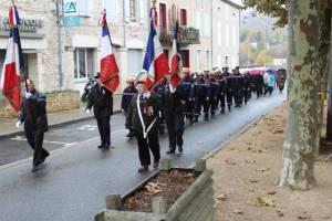 Lors du défilé les anciens combattants