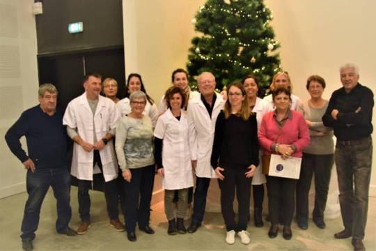 Réunies l'équipe des soignants et les bénévoles de Servian