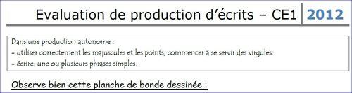 Evaluation de production d'écrits!