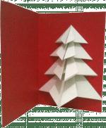 Carte sapin en origami