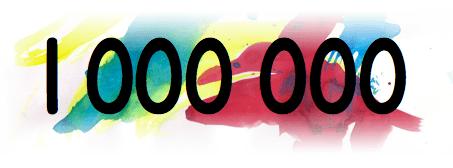 1 million de visiteurs !