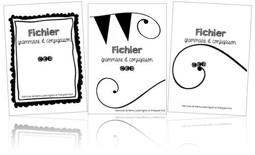 Fichier de grammaire et conjugaison -PICOT CE2