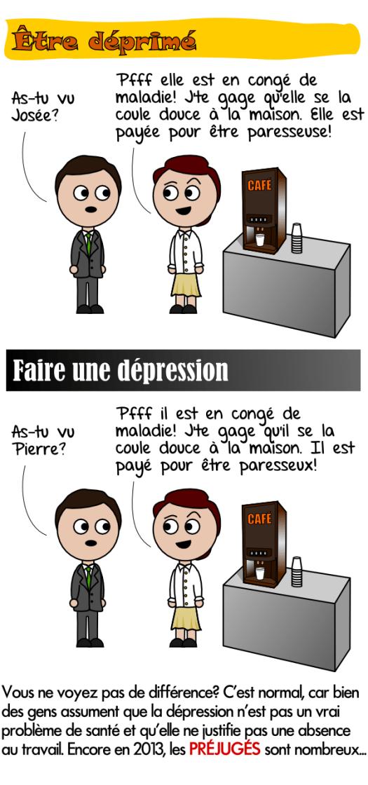 Les personnes qui souffrent de dépression font l'objet de préjugés au travail