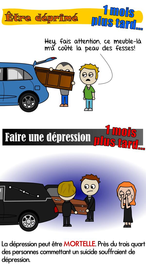 Les personnes qui souffrent de dépression sont à risque élevé de suicide
