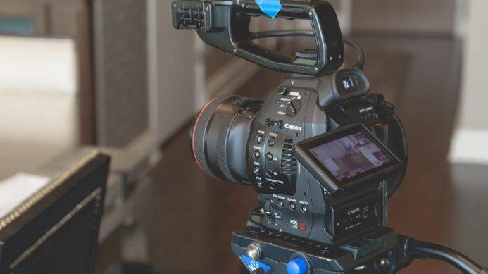 Camara de cine canon idea para un cortometraje