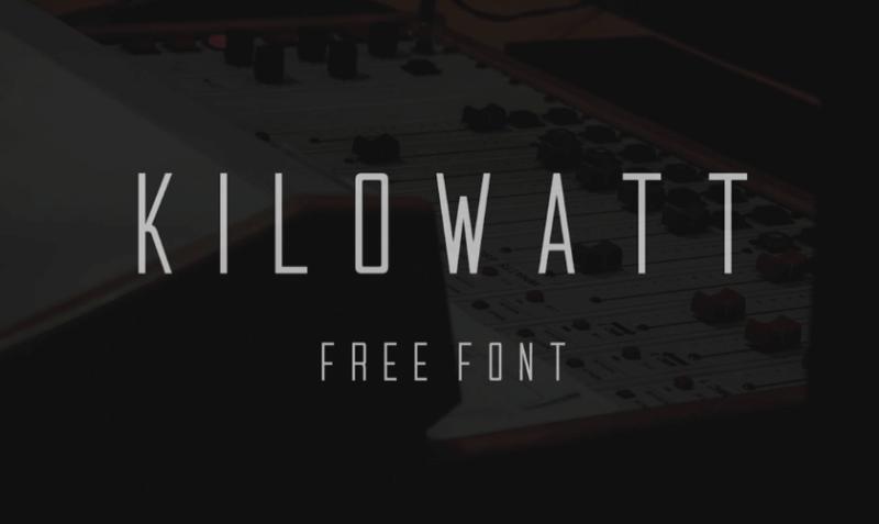 Kilowatt font