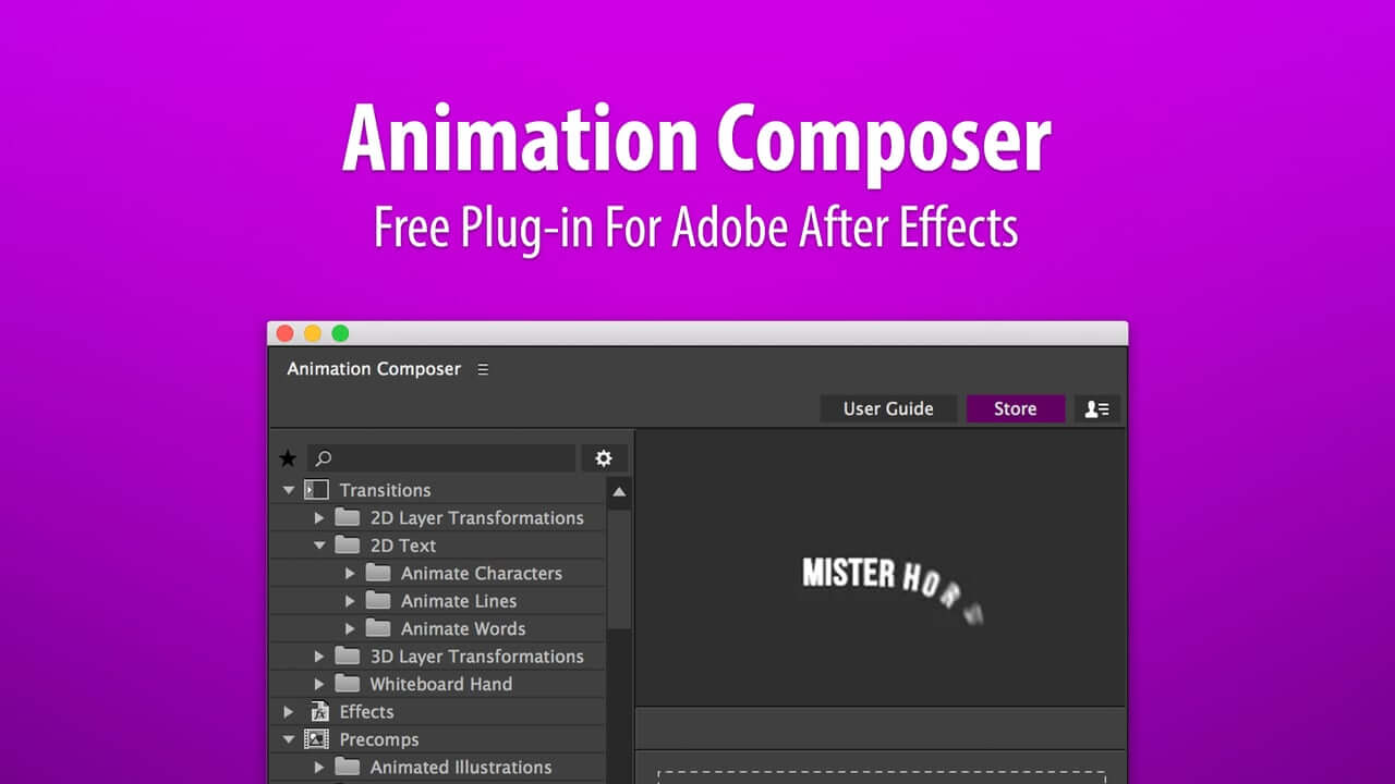 Animation Composer it's a free plugin for Adobe After