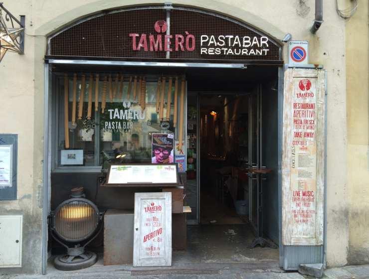 Ingresso Tamerò -Le Plume - dove mangiare a Firenze