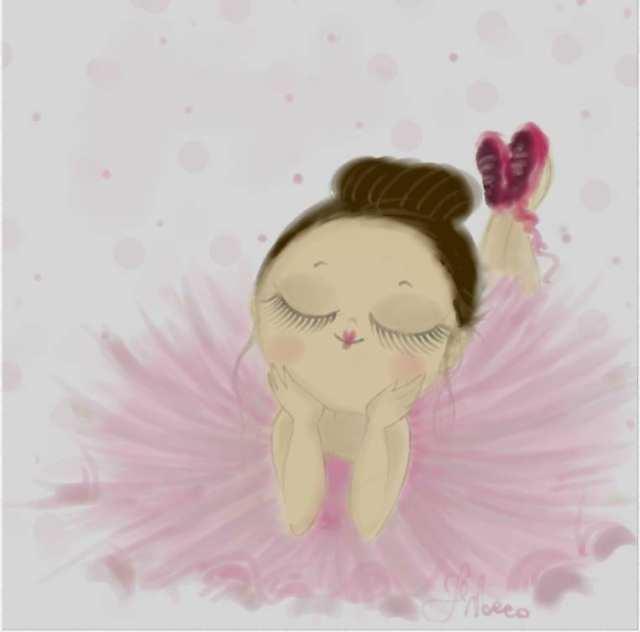 Ballerina Rosa - Madamoiselle Crayon - Le Plume
