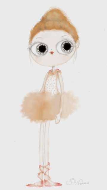 Ballerina in piedi - Madamoiselle Crayon - Le Plume