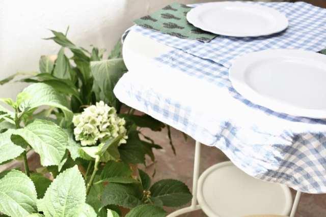 Pausa pranzo - Gaufres salate - tavolo - le plume