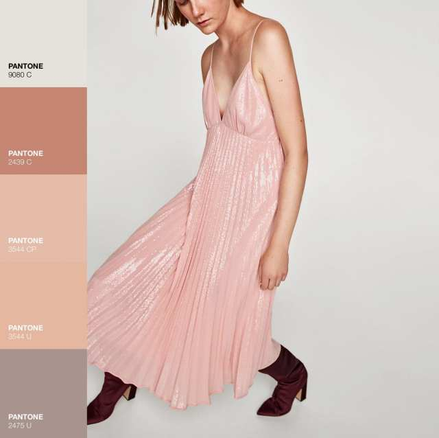 Vestito Midi Zara -Rosa Pink - Le Plume