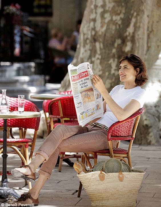 Ines De la Fressange - tshirt bianca - leplume