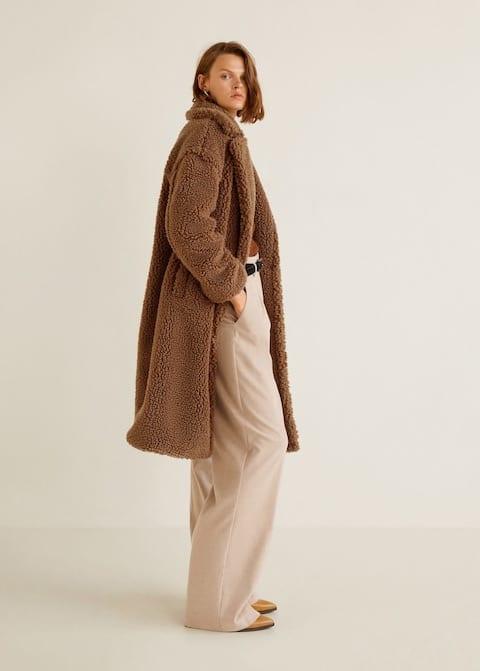 Mango cappotto lana di pecora