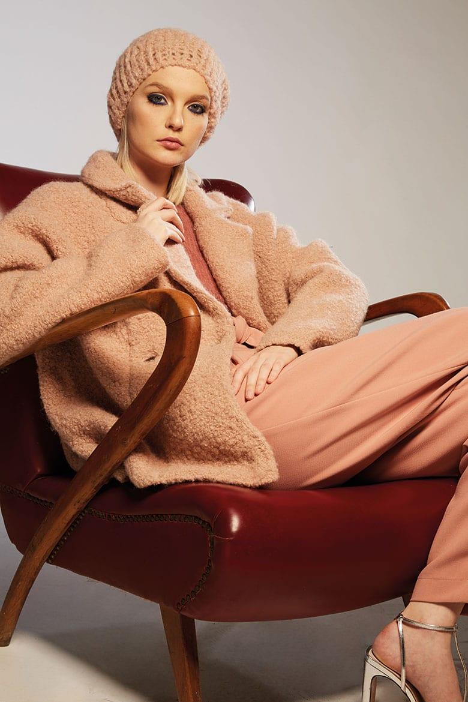 Cappotto morbido rosa Roberto Collina