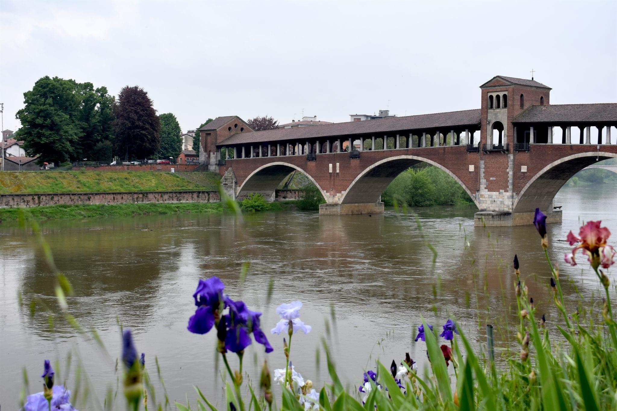 Ponte coperto e borgo ticino - pavia - Le plume